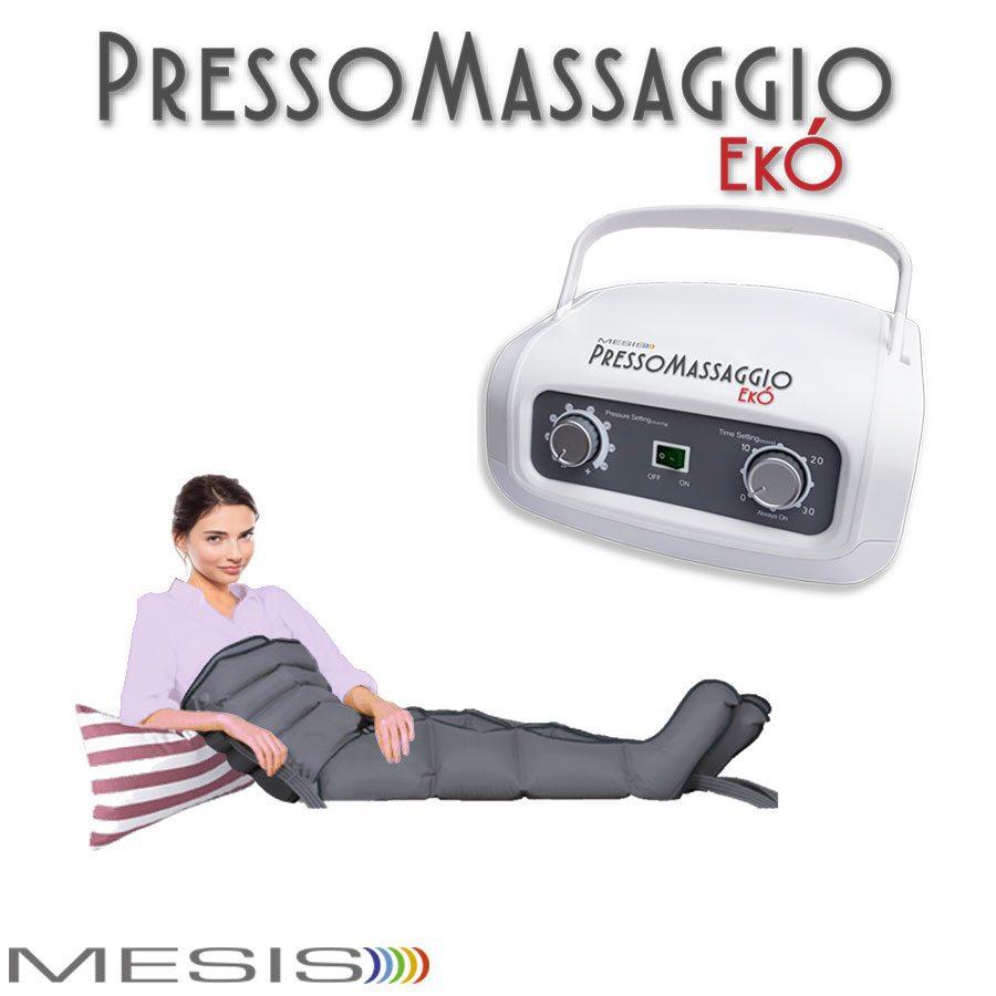 Pressoterapia PressoMassaggio EkÓ con 2 gambali e fascia addominale glutei, per dimagrimento e anti cellulite