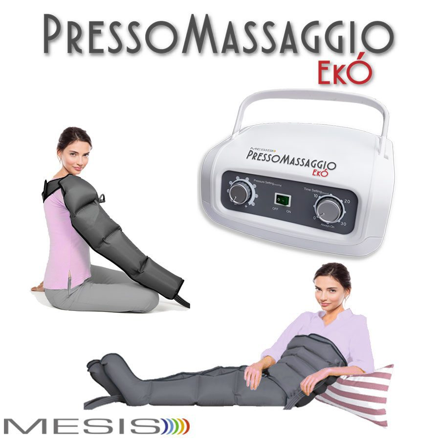 Pressoterapia estetica PressoMassaggio EkO', certificata per uso domestico
