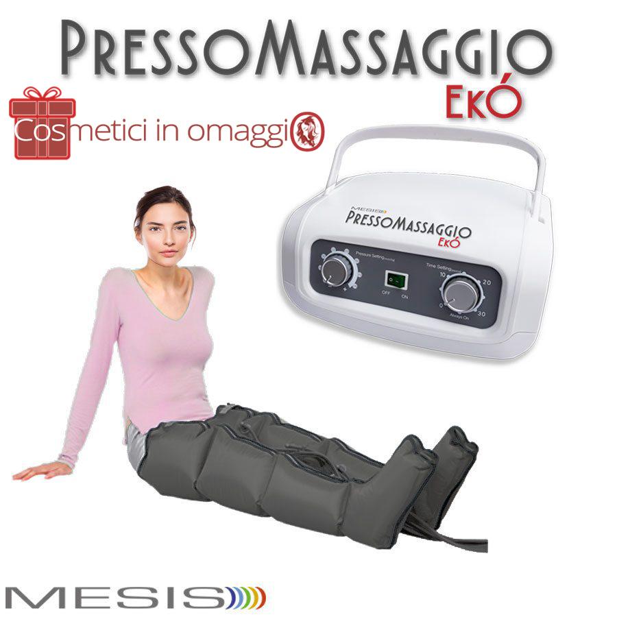 La pressoterapia PressoMassaggio EkO' con 2 gambali per le gambe gonfie e la cellulite