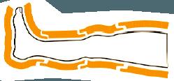 Schema gambale CPS della pressoterapia medicale Mesis Top Medical Premium
