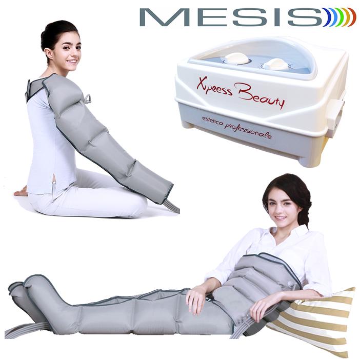 Pressoterapia estetica Mesis Xpress Beauty con 2 gambali, 1 fascia addome-glutei e 1 bracciale a 4 camere